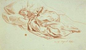 Daniel Chodowiecki: Schlafendes junges Mädchen im Bett