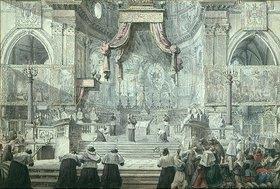 Louis-Jean Desprez: Das Blutwunder des Hl. Januarius in der Kathedrale von Neapel