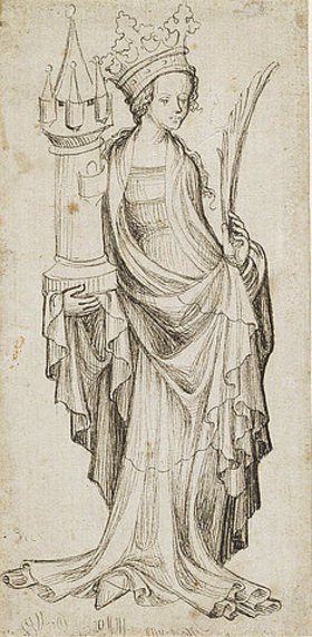 Unbekannter Meister: Heilige Barbara. Nürnberg