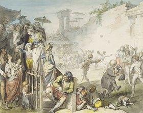 Johann Heinrich Ramberg: Ballspiel in Rom