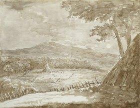 Johann Wolfgang von Goethe: Gebirgslandschaft mit Heupyramiden im Mondschein