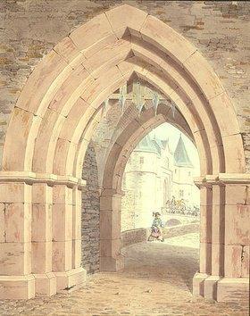 Friedrich Maximilian Hessemer: Friedberg, die Burg durch das Seer Tor gesehen