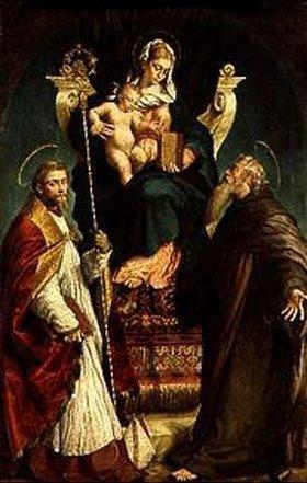 Bassano (Jacopo da Ponte): Madonna mit den heiligen Martinus und Antonius Eremita
