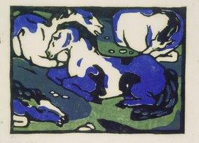 Franz Marc: Ruhende Pferde
