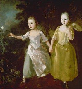 Thomas Gainsborough: Die Töchter des Künstlers fangen einen Schmetterling. Wohl