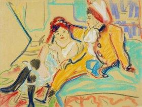 Ernst Ludwig Kirchner: Zwei Mädchen auf einem Divan