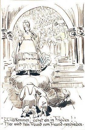 Wilhelm Busch: Willkommen! gehet ein in Frieden (...), aus Der heilige Antonius von Padua