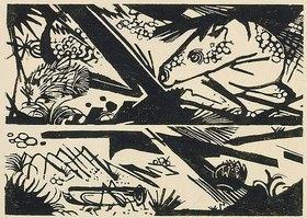 Franz Marc: Pferd und Igel