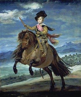 Diego Rodriguez de Velazquez: Prinz Balthasar Carlos zu Pferde