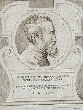 Giulio Bonasone: Bildnis Michelangelo