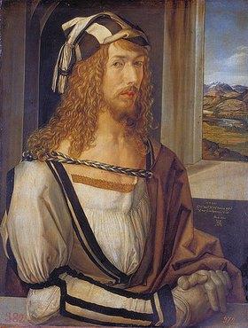 Albrecht Dürer: Selbstbildnis mit Landschaft
