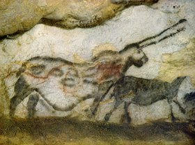 Unbekannter Künstler: Höhle von Lascaux, Phantastisches Tier, 17000 v.Chr