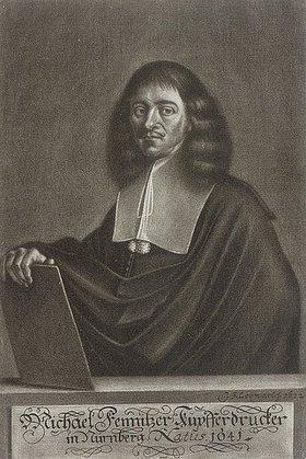 Johann Friedrich Leonart: Portrait des Nürnberger Kupferdruckers Michael Fennitzer