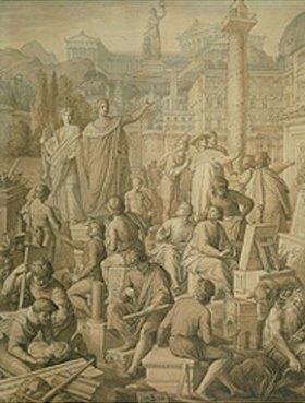 Julius Schnorr von Carolsfeld: Ludwig I. beruft die in Rom weilenden deutschen Künstler nach München