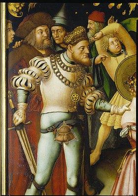 Hans Holbein d.Ä.: Der Henker mit dem Schwert. Detail aus der linken Tafel des Katharinen-Altars (Martyrium der hl. Katharina)