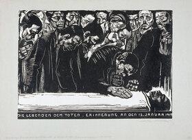 Käthe Kollwitz: Gedenkblatt für Karl Liebknecht