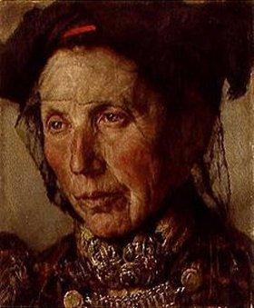Georg Schildknecht: Alte Bäuerin aus Dach