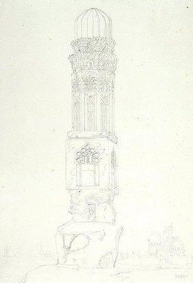 Friedrich Maximilian Hessemer: Ohne Titel (Minarett)