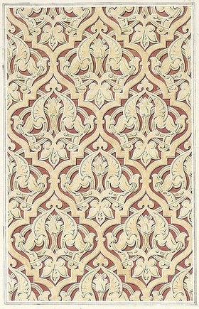 Friedrich Maximilian Hessemer: Wandfläche an dem Grabgebäude des Emir Kebir bei Kairo. Arabische und Alt-Italienische Bau-Verzierungen, Entwurf für Tafel I