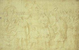 Francesco Primaticcio: Römische Opferszene nach einem Relief der Trajanssäule