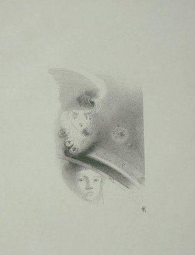 Odilon Redon: Planche d'Essai (Studienblatt)