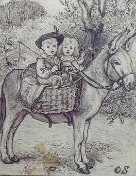 Otto Franz Scholderer: Junge und Mädchen auf Esel