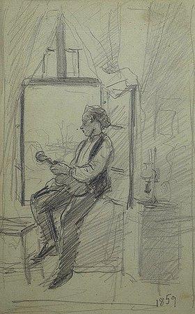 Otto Franz Scholderer: Geiger am Fenster