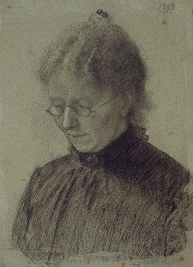 Otto Franz Scholderer: Portrait Luise Scholderer