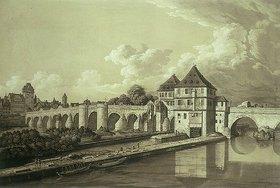 Johann Gottlieb Prestel: Vue du Pont à Francfort / Alte Brücke in Frankfurt a. M