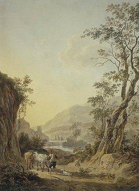 Abraham van Strij: Italianisierende Landschaft mit einem Hirten