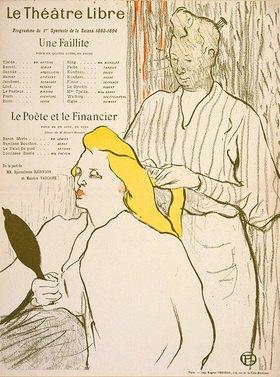 Henri de Toulouse-Lautrec: La coiffure, Programme du Théâtre Libre