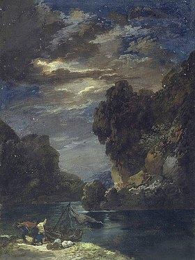 Johann Georg Wagner: Stürmische Mondnacht im Gebirge