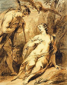 Jacob de Wit: Jupiter und Mnemosyne
