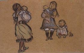 Heinrich Zille: Fünf Arbeiterkinder