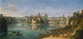 Gaspar Adriaens van Wittel: Die Tiber-Insel in Rom