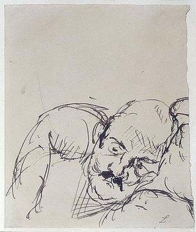 Max Beckmann: Ugi Battenberg, auf einem Kissen ruhend