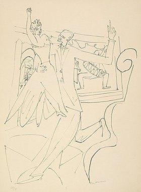 Max Beckmann: Day and Dream, Blatt IV - Tango