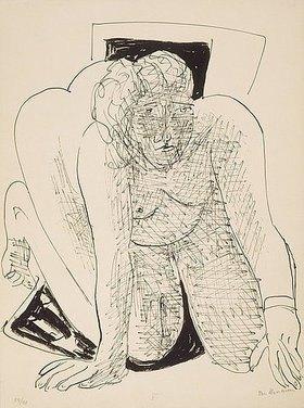 Max Beckmann: Day and Dream, Blatt V - Crawling Woman (Kriechende Frau)