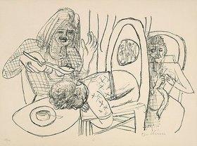 Max Beckmann: Day and Dream, Blatt VI - I Don't want to eat my Soup (Ich esse meine Suppe nicht)