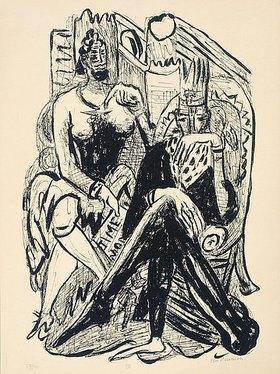 Max Beckmann: Day and Dream, Blatt VIII - King and Demagogue (König und Demagoge)