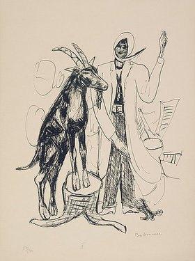 Max Beckmann: Day and Dream, Blatt IX - The Buck (Der Bock)