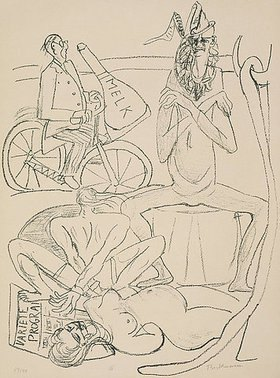 Max Beckmann: Day and Dream, Blatt XII - Circus (Zirkus)
