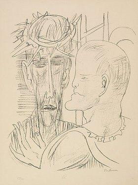Max Beckmann: Day and Dream, Blatt XV - Christ and Pilate (Christus und Pilatus)