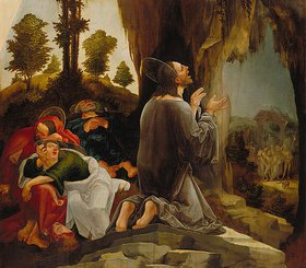 Wolf Huber: Christus am Ölberg (Teil eines Flügelaltars)