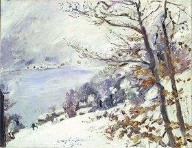 Lovis Corinth: Der Walchensee im Winter