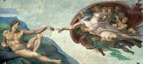 Michelangelo: Sixtinischen Kapelle: Die Erschaffung des Adam