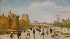 Esaias van de Velde: Eisbelustigung auf dem Stadtgraben