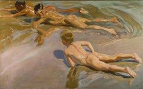 Joaquin Sorolla: Nackte Knaben am Strand
