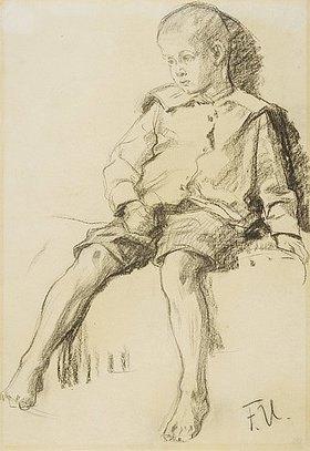 Fritz von Uhde: Sitzender Junge mit nackten Beinen