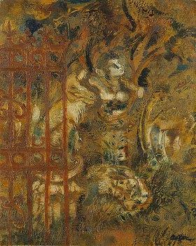 Jankel Adler: Der Fuchs und die Büste (Der Garten). Vor